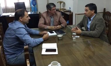 Alonso y el intendente Ongarato abordaron diferentes temas.