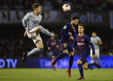 Barcelona y Celta no se sacaron ventajas en el partido de ida de los 8vos de final de la Copa del Rey.
