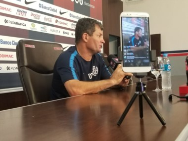 """Claudio Biaggio: """"Miedo no, miedo le tengo a la muerte. Mirá si le voy a tener miedo a un equipo brasileño, somos San Lorenzo""""."""