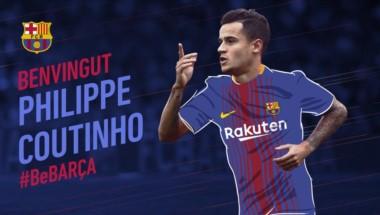 El Barcelona hizo oficial el fichaje del brasileño Philipe Coutinho.