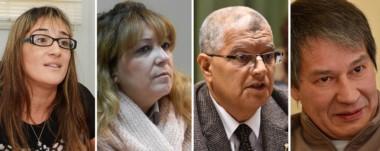 Ivana González. Magistrada. Stella Eizmendi. Lo dejó libre. José García. Uno de los jueces. Oscar Romero. El defensor.