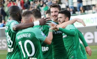 Lucas Villafáñez, de paso por Independiente, metió un doblete para el Panathinaikos en la Superliga griega.