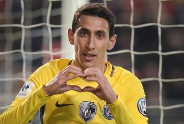 Di María marcó dos en el triunfo del PSG frente al Rennes por 6-1 por la Copa de Francia.
