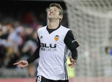 Debut soñado para Vietto, autor de tres goles para el Valencia ante Las Palmas.
