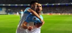 """""""Licha"""" López, autor de los dos goles en el empate con Boca, dijo que hay que aflojar un poquito con los insultos a los árbitros."""