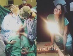 La joven celebró el cumpleaños durante su primera intervención quirúrgica.