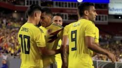 Los goles sudamericanos fueron anotados por Bacca,Falcao,M.A Borja y por James que se lució con un tiro angulado de pierna zurda.
