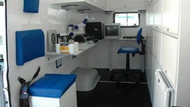 Este es el laboratorio que el gobierno provincial desmanteló para usar la camioneta para otra cosa.