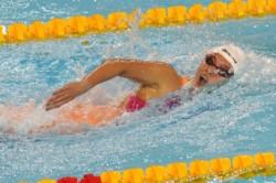 Delfina, como en los 800 metros, se quedó con la medalla de plata en los 400.
