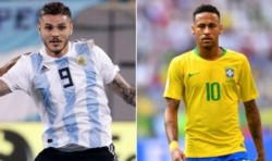 Icardi y Neymar, las figuras de cada seleccionado que estarán hoy frente a frente.