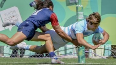 Try argentino. Los Pumitas se transformaron en los reyes del rugby seven tras vencer a Francia por 24 a 14.