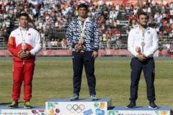 Nazareno Sasia ganó la medalla de oro en lanzamiento de bala.