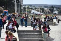 La Plaza Centenario fue epicentro de muchas actividades durante el Encuentro Nacional de Mujeres.