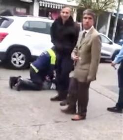 Un juez laboral y un abogado quedaron involucrados en un confuso episodio callejero.