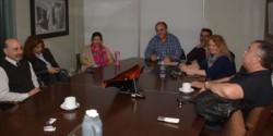 Hector González junto a la comisión de Unidad Sanitaria para el desarrollo de políticas públicas.