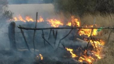 Las llamas se veían de lejos y causaron la reacción de vecinos que llamaron insistentemente a los Bomberos.