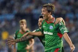Tomás Pina marcó el tanto de la victoria de Alavés, sorpresivo líder de la Liga.