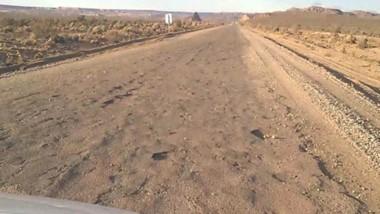 Cráteres. El Gobierno nacional prometió que la ruta se mejorará.
