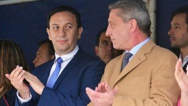 El intendente Maderna junto al gobernador Arcioni en el marco del aniversario de la ciudad.