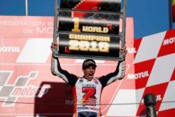 Fantástico Márquez logrando su séptimo campeonato del mundo, quinto en Moto GP.