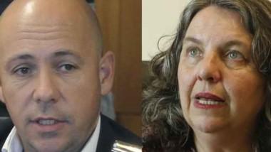Dúo. Sastre (izquierda) y Saunders criticaron la política de la Rosada.