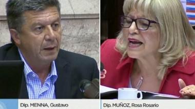 Menna otra vez respetó la disciplina partidaria y voto afirmativamente. Rosa Muñoz estuvo otra vez en el foco de la tormenta con su voto.