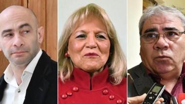 Voces. Massoni (izquierda) respaldó la actitud de la diputada, al igual que Paz, el ministro coordinador.