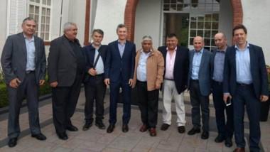 Del encuentro con el presidente Macri también participaron otros diputados provinciales de Chubut.