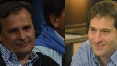 ¿Hay fórmula? Mac Karthy (izquierda) le ofreció a Linares que su vice municipal, Luque (derecha) sea su compañero de boleta en las PASO 2019.