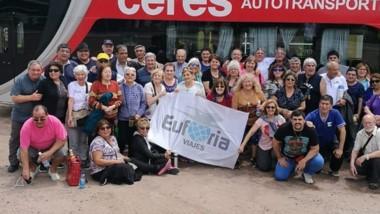 El grupo de jubilados que realizó el viaje entre el 18 al 29 de octubre.