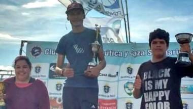 Los ganadores. Más de 300 pescadores participaron de este concurso.