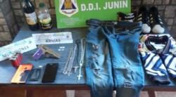 Armas, municiones secuestrada en la vivienda de uno de los violadores.