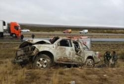 Todos los heridos fueron trasladados al hospital de Madryn (fotos @BomberosMadryn)