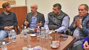 El ministro Garzonio estuvo reunido con la Federación Empresaria y los diputados de distintos bloques.