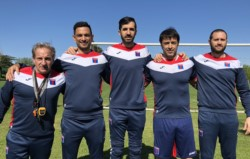 Echeverría formó parte de la defensa de aquel equipo que se salvó del descenso con una campaña excepcional en 11/12 con Arruabarrena como DT.