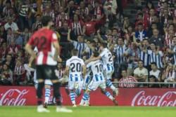 Real Sociedad venció a Athletic Bilbao por 3 a 1.
