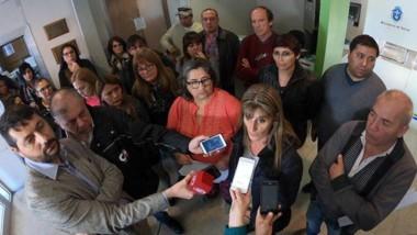 Negociaciones. Los sindicatos brindaron una conferencia en las instalaciones del Ministerio de Salud.