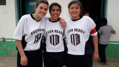 Quintana, Ceballos y Montero, las goleadoras dela tarde ayer.