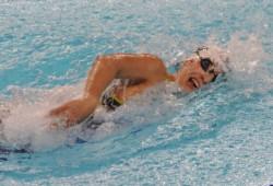 En los 100m libre, Julieta Lema finalizó tercera en su serie con un tiempo de 57.07 y 17° en la general.