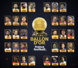 Estos son los 30 nominados al Balón de Oro.
