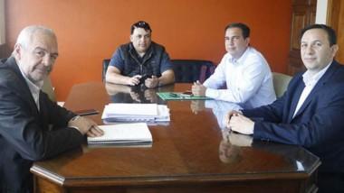 El encuentro entre el ministro de Infraestructura y el intendente.