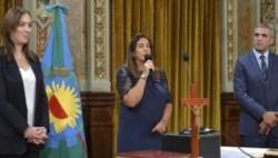 Inza era una estrecha colabboradora de la gobernadora Vidal hasta que las denuncias la hicieron renunciar.