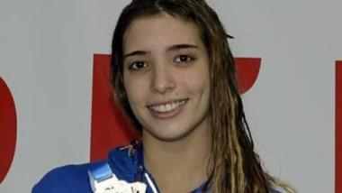 Julieta con su medalla plateada. La chubutense sigue sumando éxitos.