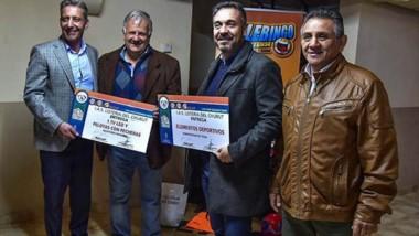 Lotería acompañó a Arcioni en su recorrida y entregó ayuda social.