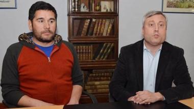 Dúo. Néstor Antieco, hijo de la víctima (izquierda) con su defensor.