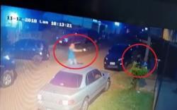 Momento en que el sicario abre fuego y mata de varios balazos a la abogada argentina.