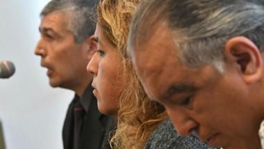 Perfiles. Desde la izquierda, Suárez, Huichaqueo y Gómez durante la dura declaración del primero.
