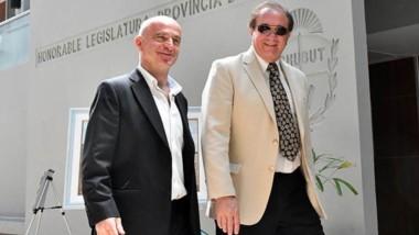 Dúo en Economía. Una vez más Garzonio y Tarrío visitaron la Legislatura para consensuar con los diputados.