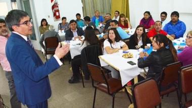 Encuentro. El desayuno unió a emprendedores, funcionarios y miembros del Nación para un balance.