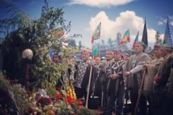 Imagen del multitudinario funeral del asesinado joven mapuche Camilo Catrillanca. Comunidad autónoma de Temocuicui, Ercilla.